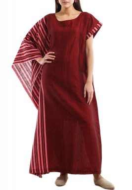 Red Semi Squared Kaftan