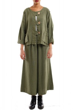 Buttons short jacket army green