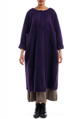 High pocket long jacket purple