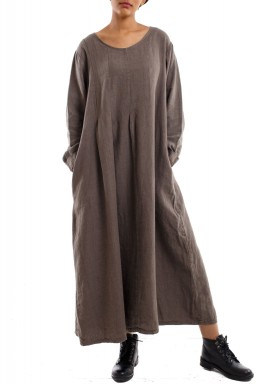 Flowy long dress brown