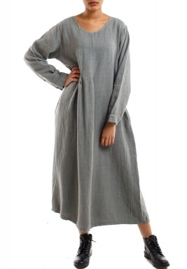 The grey long dress