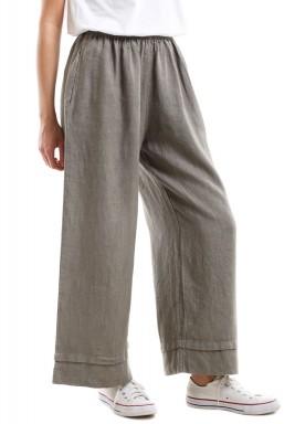Square cut loose pants - Khaki