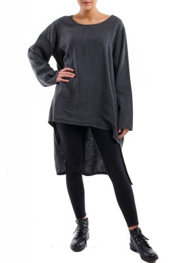 Dark gray long top