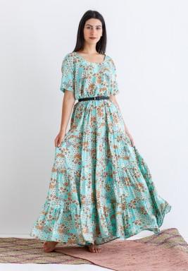 Tiffany Floral Short Sleeves Kaftan