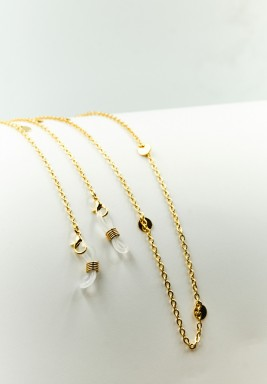 BL Gold Plated Eyeglasses Chain with circles