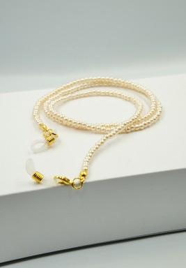 BL Nude Pearls Beaded Eyeglasses Chain