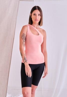 Pink Asymmetrical Top