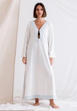 White Long Sleeves Tunic