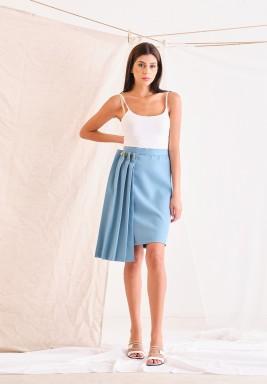 Blue Suit Skirt