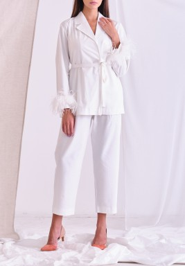 White Overlap Top & Pants