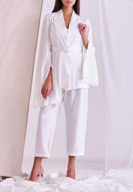 White Crystal Blazer & Pants