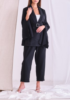 Black Crystal Blazer & Pants