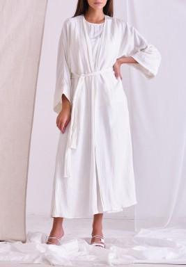 White Cardigan Set