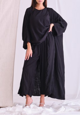 Black Cardigan Set