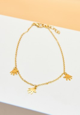 BL Gold Plated Small Hands Charms Anklet chain