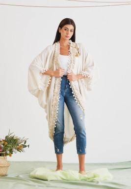 Gardenia Open Ruffled Jacket