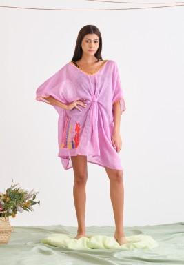 Purple Linen Cover-Up