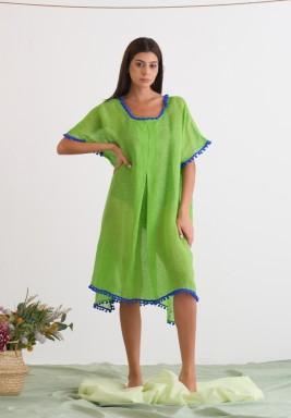 Green Linen Cover-Up