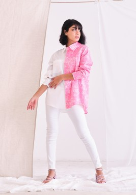 Pink & White Pasely Shirt