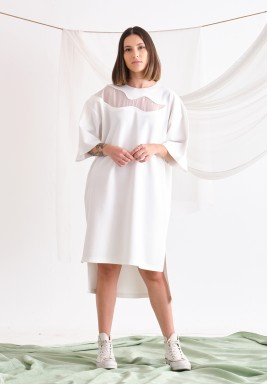 White Oversized T-shirt Dress