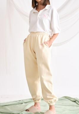 Cream Oversized Trackpants