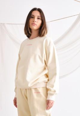 Cream Oversized Sweatshirt