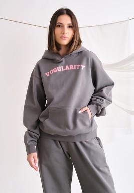 Grey Oversized Hoodie