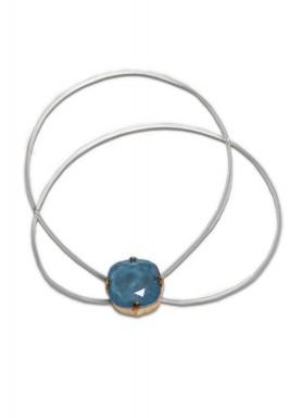 Turquoise Swarovski Double Band Bracelet