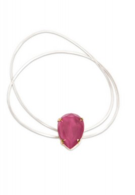 Fuchsia Swarovski Double Band Bracelet