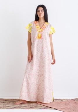 Pink and Yellow Printed Kaftan - RSC_21/01