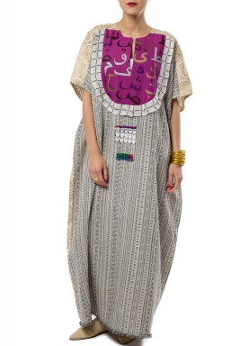 Arabic purple kaftan