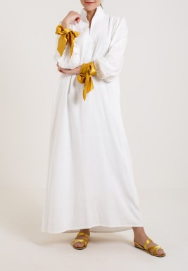 DRESS WITH GOLD RIBBON