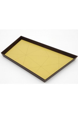 Nada Debs Vintage Tray Large Trapezoid Olive(Maple wood)