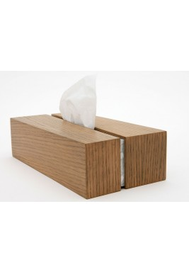 Nada Debs Draw the line Oak tissue box