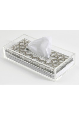 Nada Debs metal pattern Clear tissue box