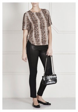 Bryone Python Short Sleeves Top