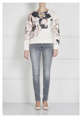 Synna printed satin-jersey sweatshirt
