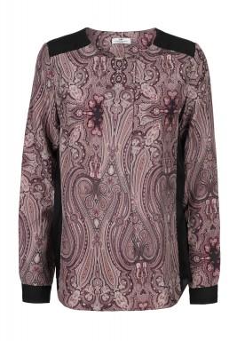 Anglian silk printed cardigan