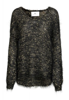 Black & Gold Long Sleeves Sweater