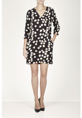 Black Polka Dot Short Dress