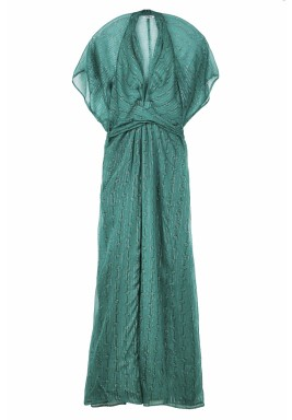 Chiffon metallic kaftans dress
