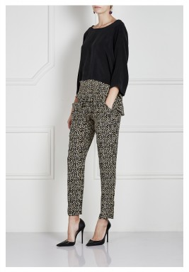 Boris leopard pants