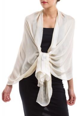 Polka dots silk scarf desert sand