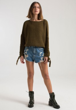 OLIVE COZY ALL DAY SWEATER
