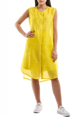 Amelina Yellow Linen Shorts & Top