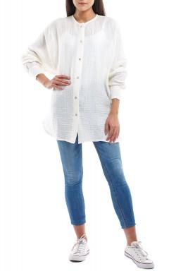 White Linen Long Sleeves Shirt