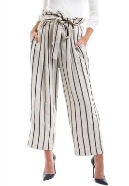 Alba Beige & Black Striped Pants