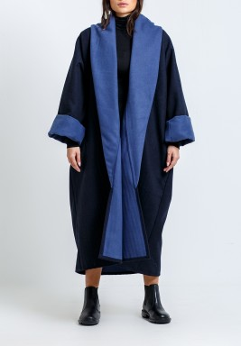 Navy & Light Blue Oversized Bisht