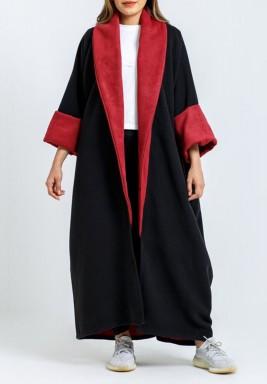 Black & Red Oversized Bisht