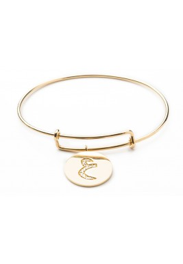 Ayin Gold & Diamond Bangle